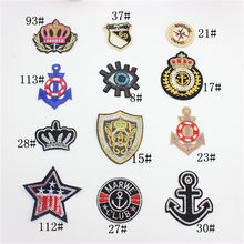 1pc Embroidered Iron On Patches Clothes Sequins Applique Brand POP DIY Hotfix Motif Applique Miky Rainbow Star Duck(China)