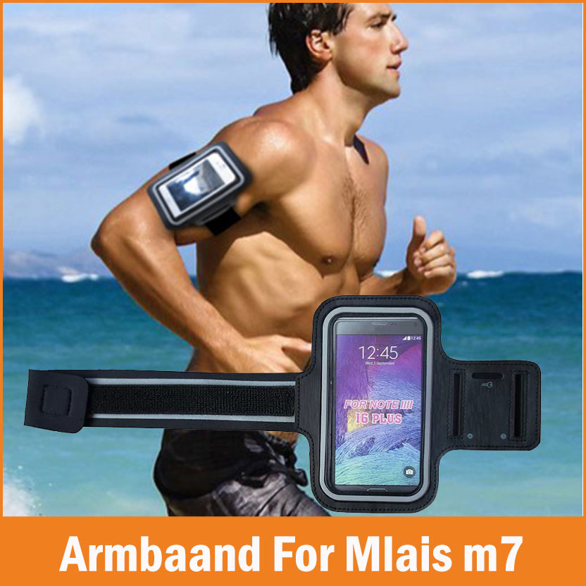 New Sports GYM Running Armband Fundas Mlais M7 Case Waterproof Jogging Arm Band Phone bags Cases Cover Accessories