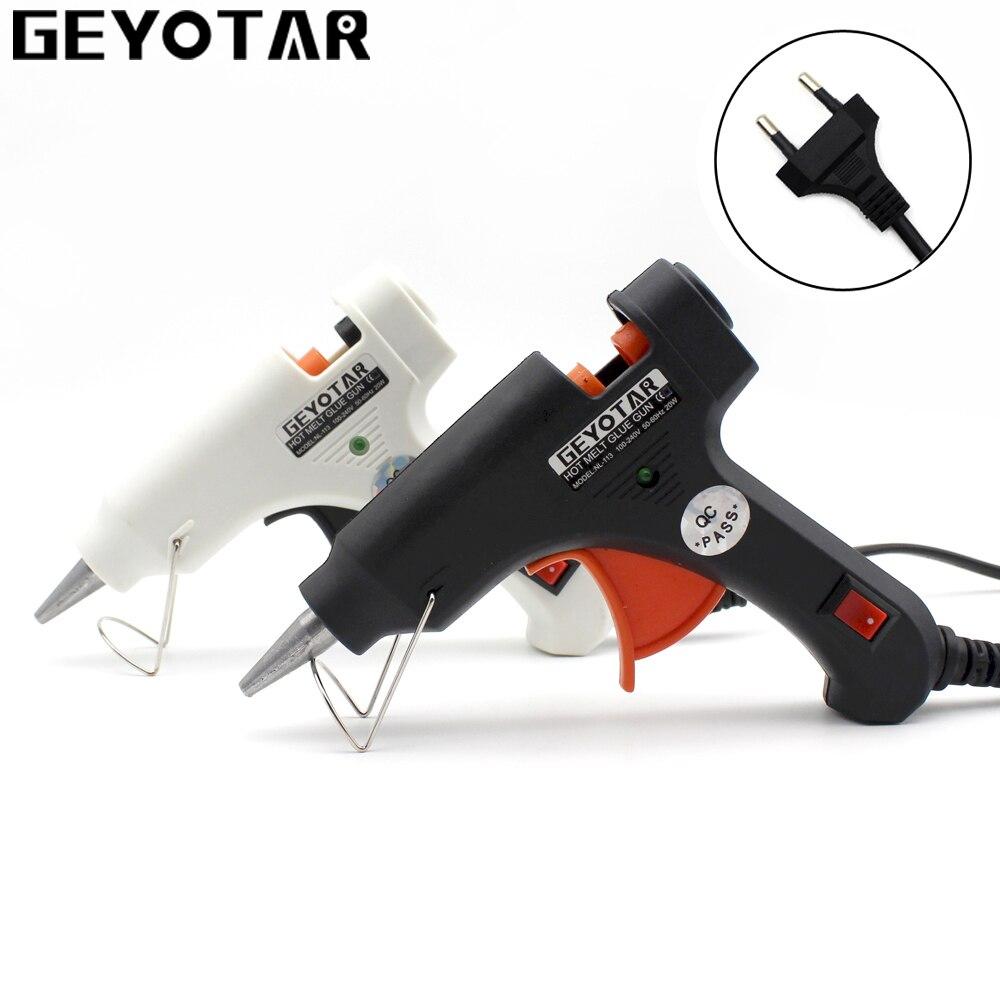20 Вт EU штекер термоклеевой пистолет с бесплатной мм 1 шт. 7 мм клеевой карандаш промышленные мини-пистолеты термо-электрические Gluegun температура тепла DIYTool
