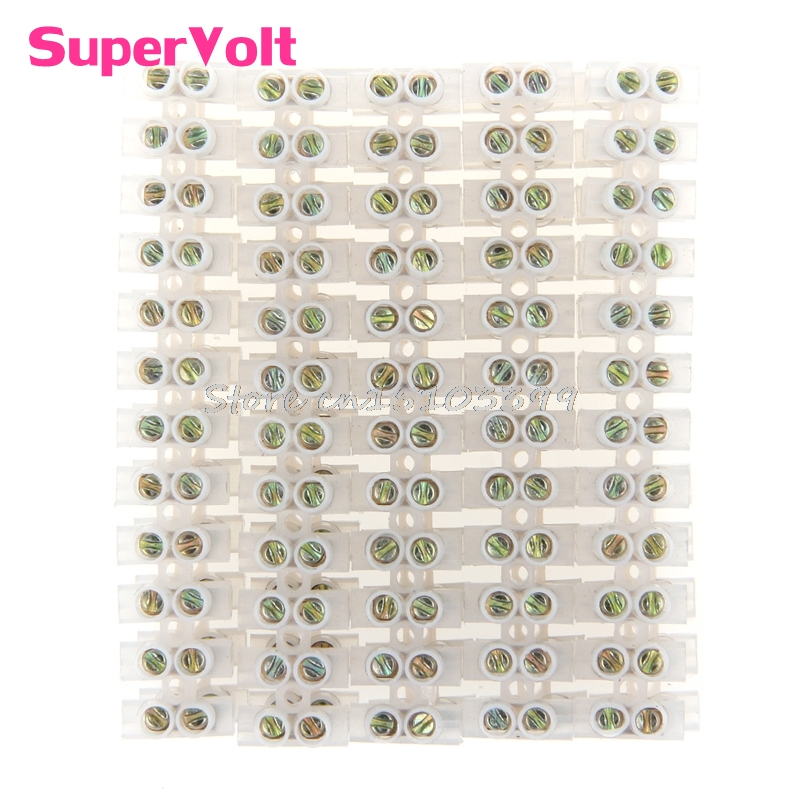 Screw Terminal Barrier Connector 10pcs Electrical Wire Connection 12Position Barrier Terminal Strip Block 3A #G205M# Best 380v 60a dual row 12 postions screw barrier terminal strip connector