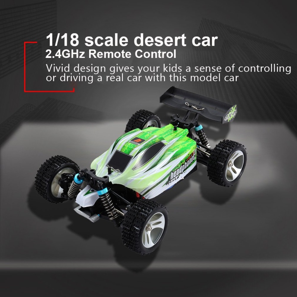 WLtoys RC Car A959-B 2.4G 4wd 1/18 Scale RTR Off-road Buggy Vehicle 70km/h Full Proportional Remote Control High Speed Electric