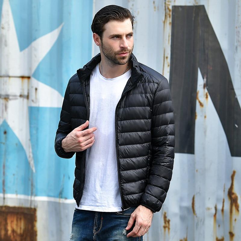 2018 men Casual White Duck   Down   Jackets male Autumn Winter Warm   Coat   Man's Ultralight Duck   Down   Jacket Male Windproof clothing