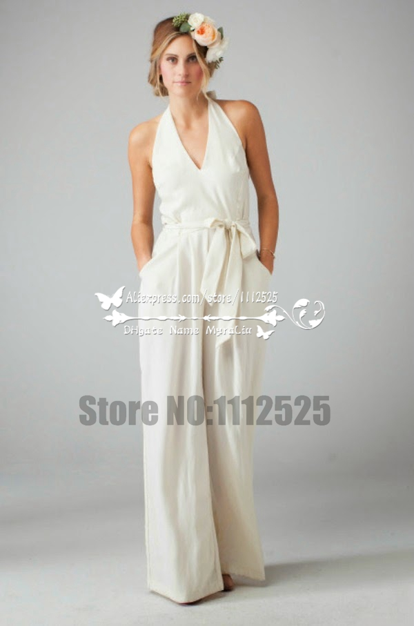 Awp 1072 Lovely Chiffon Wedding Jumpsuit Dress Sposa Pantaloni In