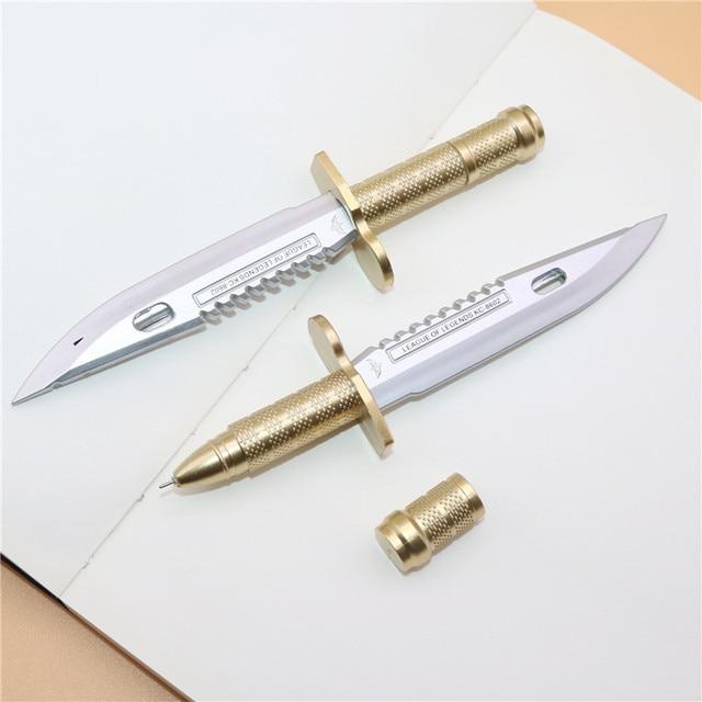 50 pcs 0.38mm Simulation Knife gel pen Student school stationery office writing pen creative promotional gift pen