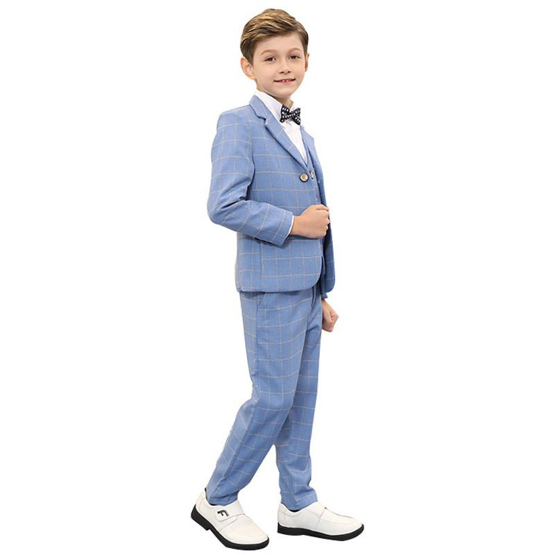 New Teenage Boys Plaid Blazer+Vest+Pant 3Pcs Sets Baby Boy Suit For Wedding Piano Party Kids Boys Suits Formal Clothing Y157New Teenage Boys Plaid Blazer+Vest+Pant 3Pcs Sets Baby Boy Suit For Wedding Piano Party Kids Boys Suits Formal Clothing Y157