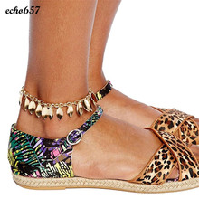 Echo657 New Multi Leaf Tassel Foot Chain Anklet Bracelet Bangle Beach Jewelry Oct 28