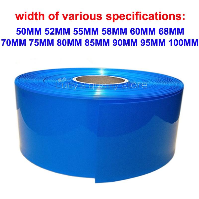 1M 18650 Lithium Battery PVC Heat Shrinkable Tube Various Lithium Battery PVC Polymer Heat Shrinkable Film Skin