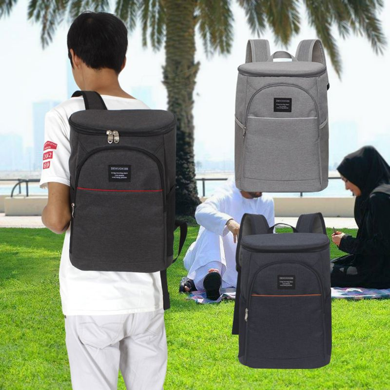 Hot 19l Insulated Cooling Backpack Picnic Camping Hiking Beach Park Ice Cooler Bag Lunch Rucksack Unisex Oxford Fabric Backpacks Big Clearance Sale Picnic Bags