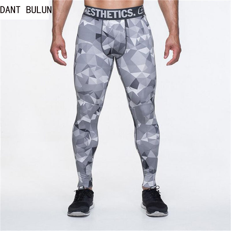 DANT BULUN Men Compression camouflage Tights Base Layer Pants Bodybuilding Tight Under Skinny Bottoms New Arrival Free shipping