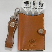 Кожаный чехол для дротиков dart wallet