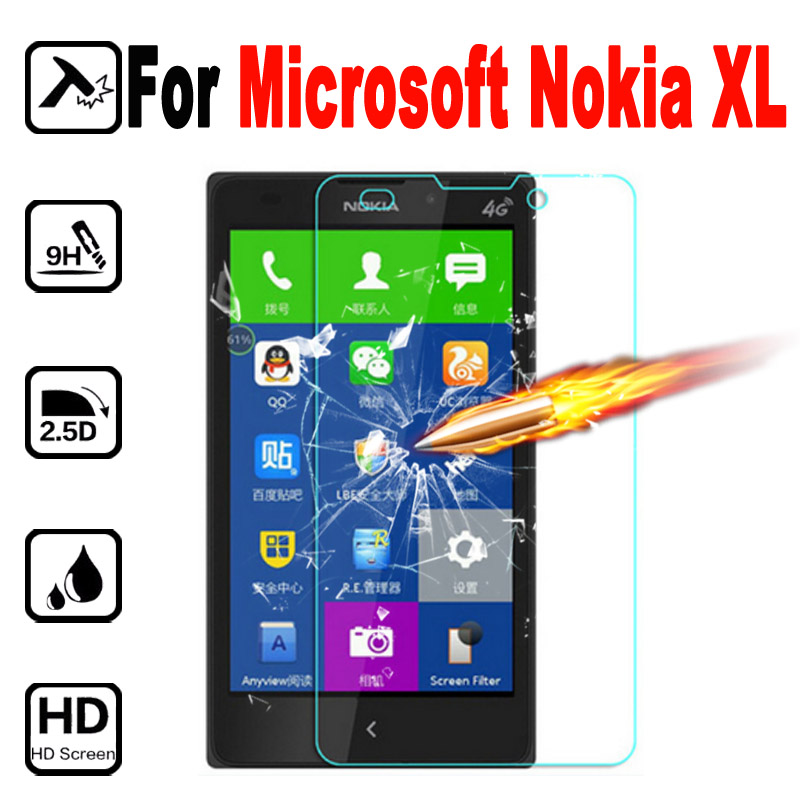 For Microsoft XL Compact Premium Tempered Glass Protective Film For Microsoft Nokia XL NokiaXL 4G Dual Sim Screen Protector case