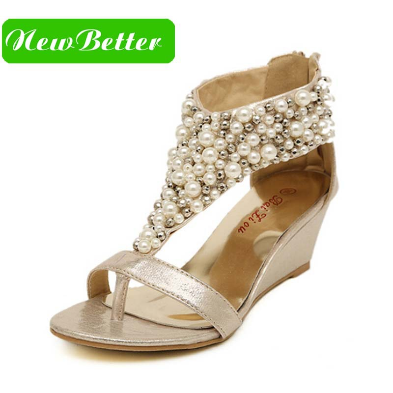 Popular Gold Wedge Shoes-Buy Cheap Gold Wedge Shoes lots from ...