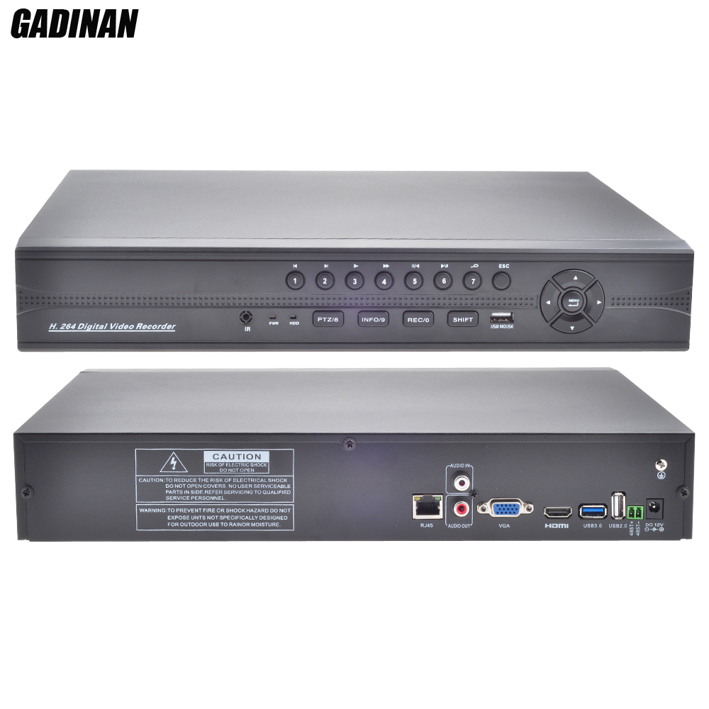 GADINAN FULL HD CCTV NVR 32CH 1080P ONVIF HI3535 Surveillance Recorder 16CH 4MP NVR Motion Detect FTP Wifi Function 3SATA Ports hikvision ds 7716ni i4 ds 7732ni i4 12mp 16ch 32ch nvr security surveillance digital video recorder onvif protocol 4 hdd ports