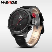 Weide Brand Luxury watch New Hot Men Sports leather Watches LED Digital Quartz Wrist Watches business analog men watch steampunk все цены
