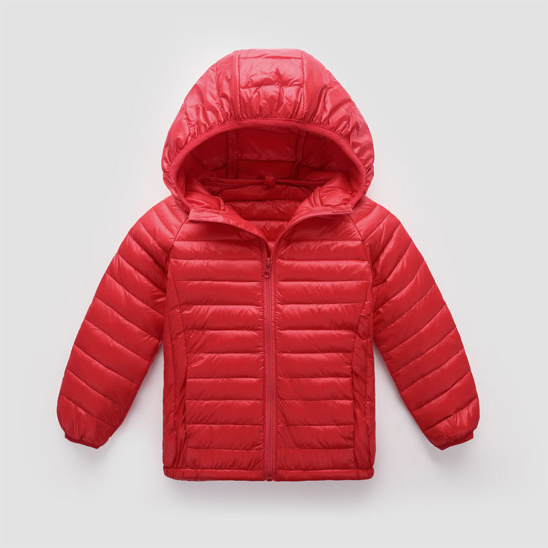 90% Duck Down Boys Winter Jacket Thin And Light Solid Color Light Down Jacket Boys Winter Coat Boys Coats Winter Girls' Clothing Down & Parkas