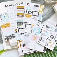 Lovedoki Journal Stickers Kit 8 Pcs Planner Scrapbooking Decorative Sticker For Filofax Notebook Diary Student School Stationery
