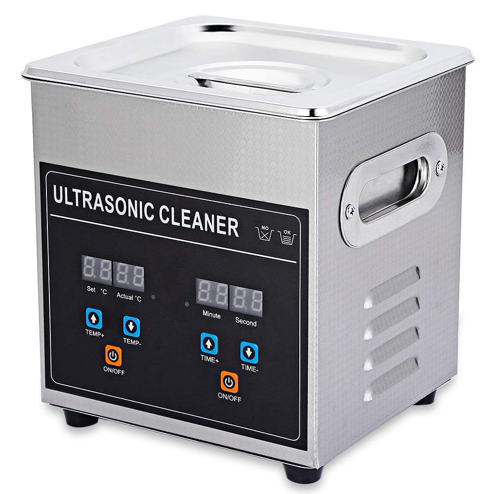 2L Professionele Ultrasone Reiniger Digitale Ultrasone Reiniger Machine Met Verwarming Timer Reiniging Sieraden Valse Tand Scheerapparaat