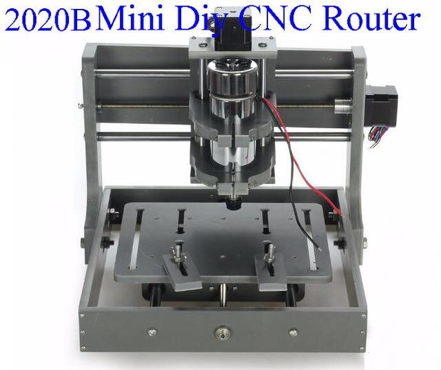 189 84 Pcb Fraiseuse Cnc 2020b Diy Cnc Sculpture Sur Bois Mini Machine De Gravure Pvc Mill Graveur Soutien Systeme Mach3 Dans Bois Routeurs De