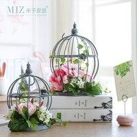 Miz 1 Sztuka Sztuczny Kwiat Dekoracji Akcesoria Do Domu Ogród Rośliny Sztuczne Wiszące Klatka dla Home Decor
