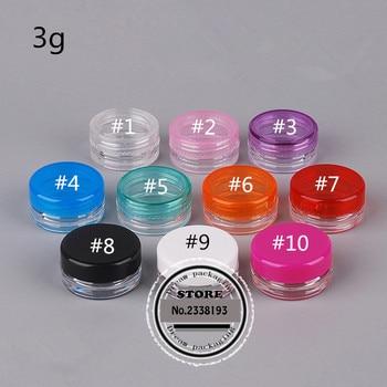 (200pcs/lot)3g PP Hand cream Jar Empty cosmetics container,multicolor small round plastic box,hand cream Jar