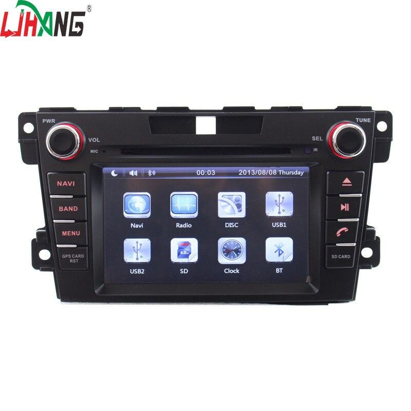 LJHANG 2 Din 7 pouces Android 7.1 lecteur DVD de voiture pour Mazda CX7 2006-2012 commande au volant voiture multimédia stéréo GPS Navi FM