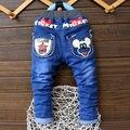 2016 Primavera/otoño Moda Niños Niñas Bebés de los pantalones Vaqueros Niños Pantalones Para Niños Pantalones de Mezclilla Ocasional 2-6Y Muchachos Del Niño ropa