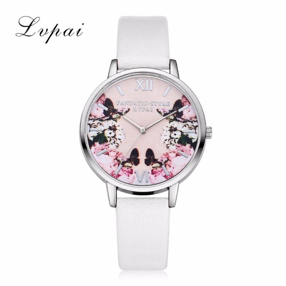 Lvpai Luxury Leather Women Dress Watches Wristwatch Fashion Women  Ladies Bracelet Watch Female Round Clock Quartz Watch