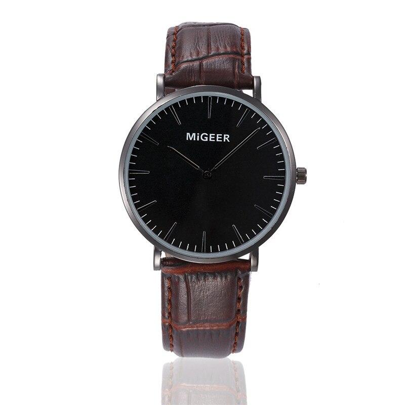 2017 Luxury Fashion Men Watch Leather Quartz Retro Design Band Analog Alloy Wrist Watch blue shope 30%