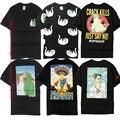2017 Nova Versão Ripndip Camisetas Das Mulheres Dos Homens 1:1 Hip Hop T-shirt de Algodão Marca de Roupas Da Moda O-pescoço Skate Gota Gato Ripndip