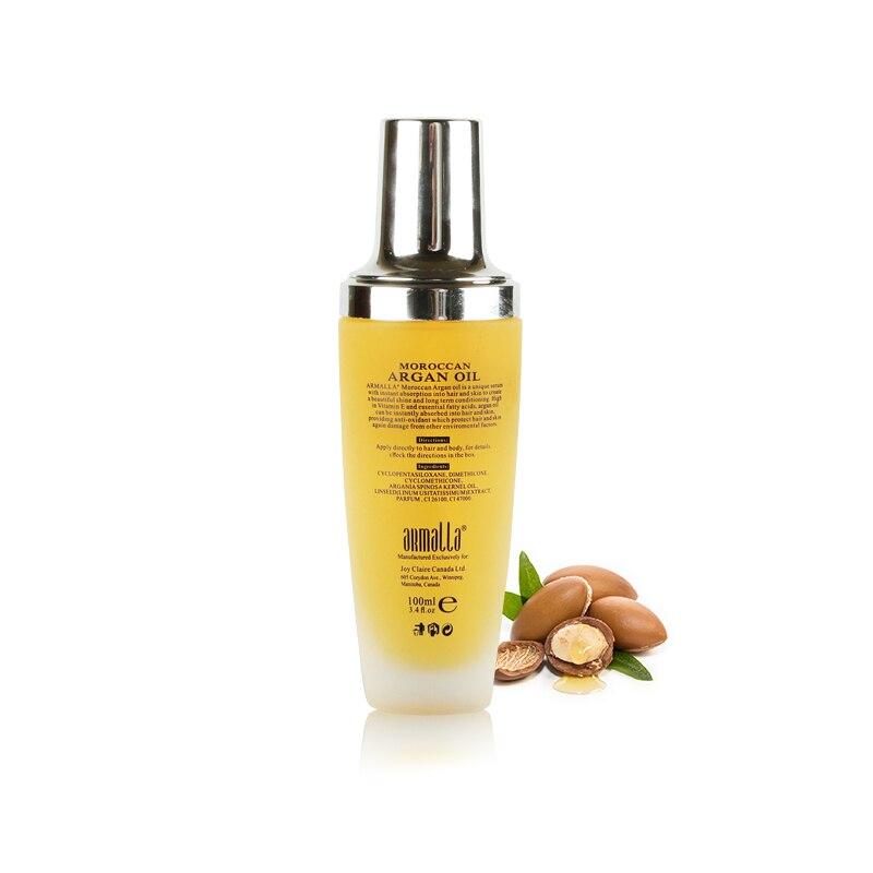 Купить с кэшбэком 11.11 100ml Argan Oil Morocco New Products Armalla Moroccan Dry Professional Maintenance Repairing Hair Nourishing Shining