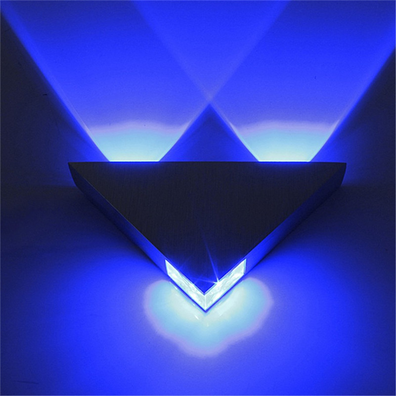 SXZM Modern led wall lamp 3W AC85-265V fashion home decoration indoor triangle multi color wall lights for homeSXZM Modern led wall lamp 3W AC85-265V fashion home decoration indoor triangle multi color wall lights for home