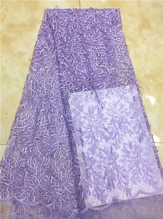Partito popolare del ricamo del panno di maglia tessuto a rete Francese per il vestito da modo PDN254 (5 yards/lotto) multi colore-in Pizzo da Casa e giardino su  Gruppo 3