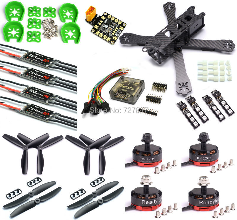 QAV-R 220mm Carbon Fiber Racing Drone Quadcopte QAV-R 220 F3 Flight Controller RS2205 2300KV Motor LittleBee 20A PRO ESC BLHeli frame f3 flight controller emax rs2205 2300kv qav250 drone zmr250 rc plane qav 250 pro carbon fiberzmr quadcopter with camera