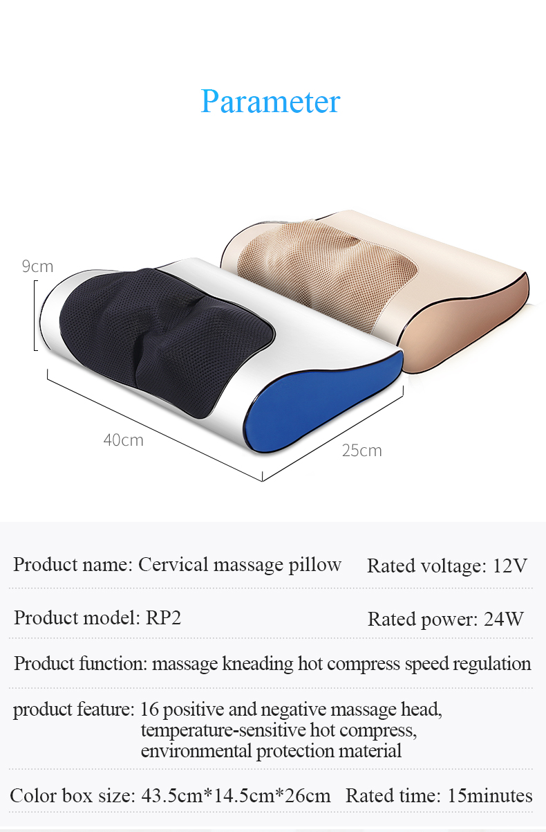 Infrared Heating Neck Shoulder Back Body Multifunctional Massage Pillow Shiatsu Massager Device Cervical Healthy Massageador17