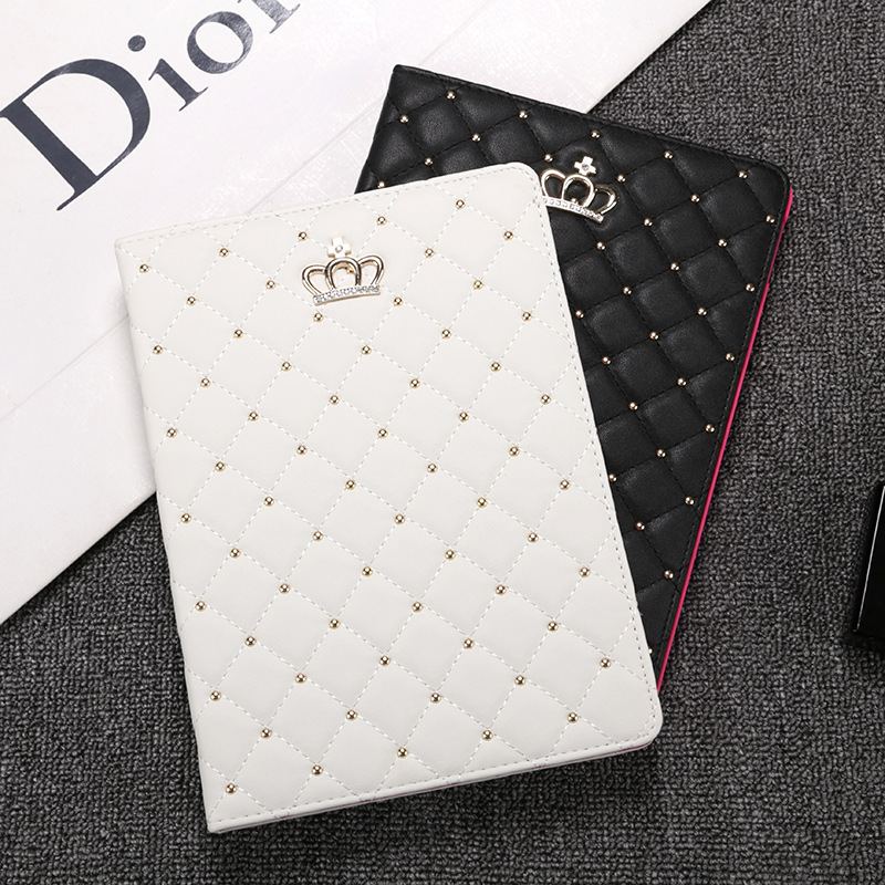 For Apple iPad Air 2 1 Mini 1 2 3 4 Case Crown PU Leather Auto Sleep Wake Up Tablet Cover for iPad 2 3 4 Smart Stand Coque Pen in Tablets e Books Case from Computer Office