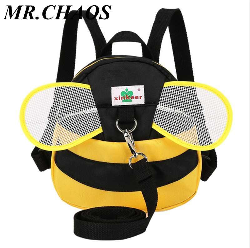 Пчела анти потерянный рюкзак для детей 1-3 лет детский сад малышей Aminals Мультфильм школьный детский рюкзак Mochila Escolar