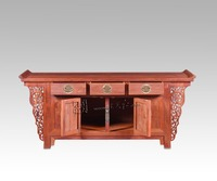 3 Drawers Rosewood Living Bed Room Cabinets Solid Wood Home Lounge Furniture Annatto End Down Shelf