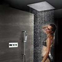 50X50 см душ с дождевой насадкой для ванной смеситель для душа набор душевой головки s большой поток воды латунь термостатический клапан для д