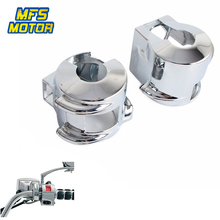 0c4cf3261206 Cubiertas de la cubierta del interruptor del cromo para 02-08 Honda VTX 1800  VTX1800 C/R/S/F/ N Piezas de motocicleta 2002 2003 .