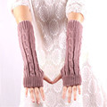 Fashion Women Fingerless Gloves Long Soft Guantes Warm Winter Knitted Mitten Tactical Elastic Gloves Cuffs Unisex Female G029