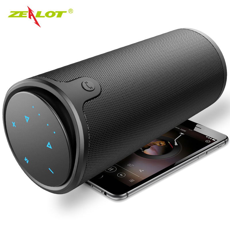 ZEALOT S8 Outdoor Bluetooth Speaker 3D Stereo Trådløs HiFi Column Touch Control Bærbar Subwoofer TF Card Slot + Power Bank