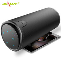 ZEALOT S8 Outdoor Bluetooth Speaker 3D Stereo Wireless HiFi Column Touch Control Portable Subwoofer TF card Slot + Power Bank