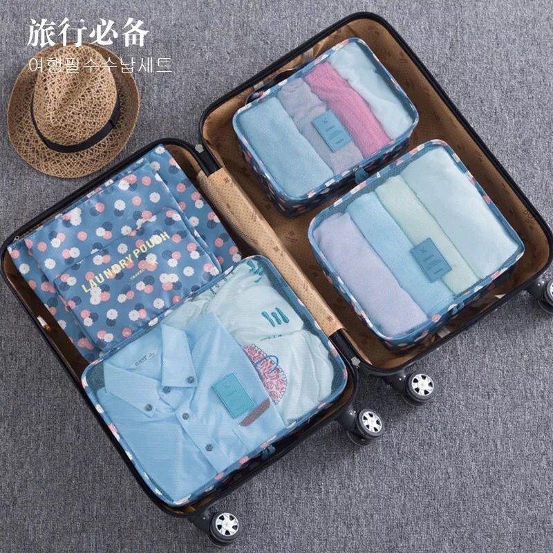 Шесть штук комплект путешествия сумка для хранения одежды чехол для белья чемодан Организатор портативный контейнер водонепроницаемый ящ...