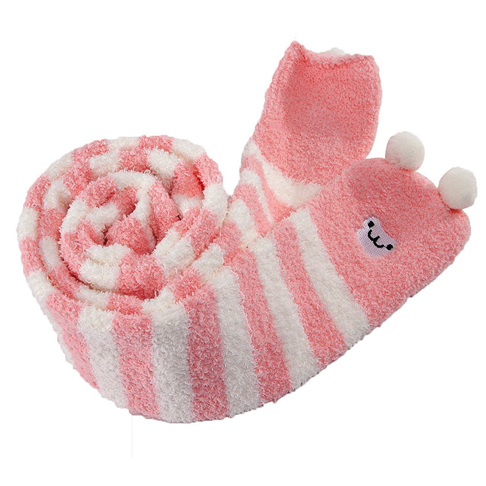 Image 5 - Adult Cute Animal Coral Fleece Thigh High Long Striped Socks Abdl ddlg Sissy Kink Little Space Ageplay SocksStockings   -