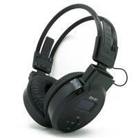 On Ear LCD Foldable Wireless Headphone Headset Fm Radio Tf Card Sport Mp3 Player White