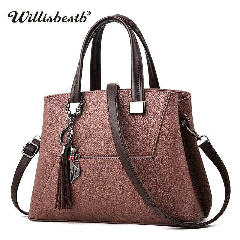 Fashion Tassel 2018 Women Handbag Luxury Brand Clutch Female Crossbody Bags Soft Leather Designer Large Lady Shoulder Bags Tote 2016 women fashion brand leather bag female drawstring bucket shoulder crossbody handbag lady messenger bags clutch dollar price