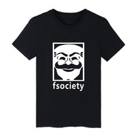 Mr Robot Fsociety Print Funny T Shirts Mens Short Sleeve TShirts And Mr Robot T Shirt