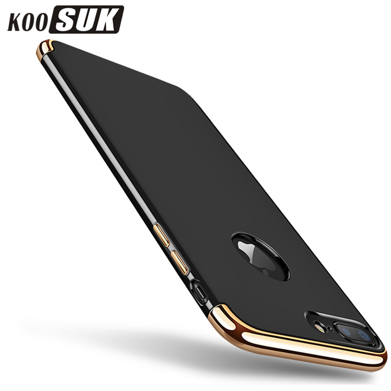 KOOSUK Nytt mode bakomslag för iphone 7 Plus fodral Coque 3 i 1 - Reservdelar och tillbehör för mobiltelefoner - Foto 1