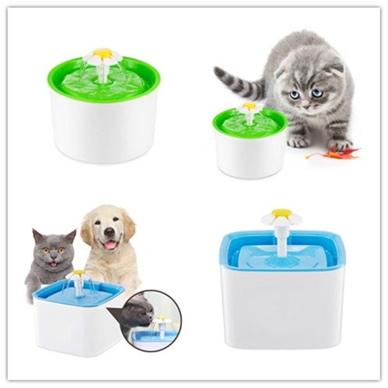 Automatische Pet Feeder Blume Katze Hund Elektrische Brunnen Für Katze Haustier Schüssel Trinkwasser Dispenser Trinken Dish Filter UNS EU stecker Neue