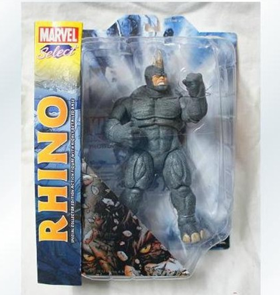 Genuine boxed Marvel select DST comic character who may be moving even rhino model robot action figure adventure toy child gift stealth edition predator alien ganso elders lone wolf mask film may be moving even hand model h28